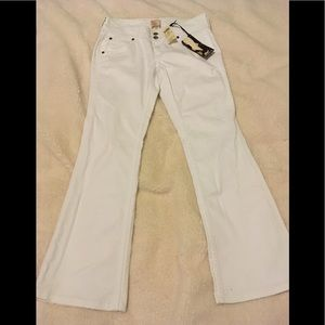Arden B white flare jeans